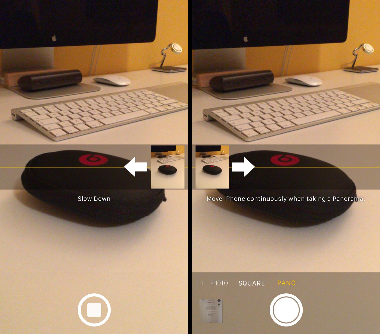 Wijzig de richting van de panorama functie van je iPhone