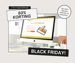 Black Friday korting I Fix Your Design