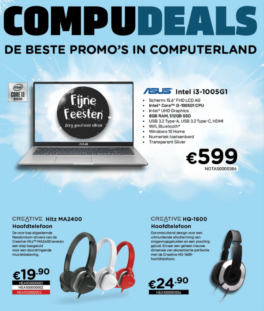 Computerfolder van december 2020 bij I Fix Your in Kampenhout