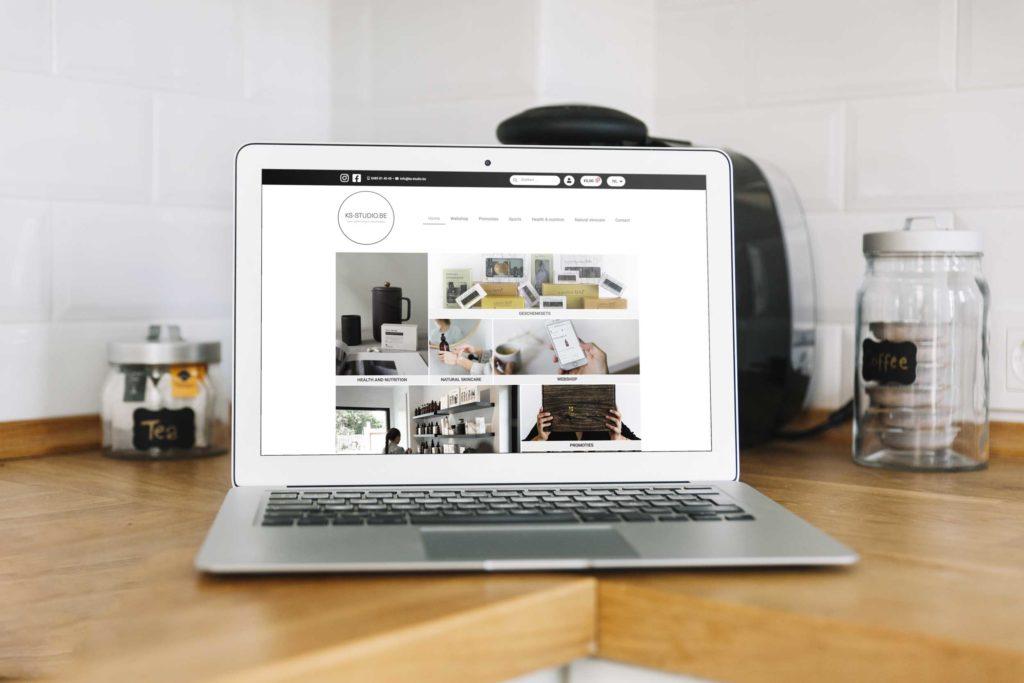 Webshop KS-STUDIO.BE gemaakt door I Fix Your Design